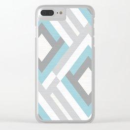 Geometric pattern.9 Clear iPhone Case