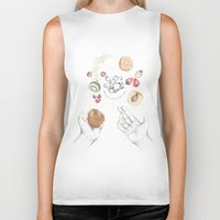 cooking Biker Tanks featuring Happy Cooking by Ana Mendes
