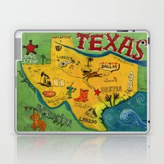 Postcard from Texas print Laptop & iPad Skin