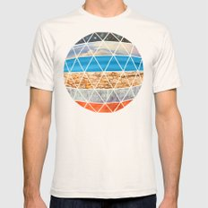 Eco Geodesic  Natural MEDIUM Mens Fitted Tee