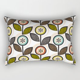 Footnote Flower Rectangular Pillow