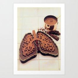 Chocolate Art Print