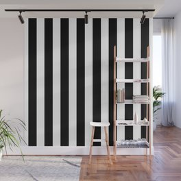 Classic Black and White Football / Soccer Referee Stripes Wall Mural