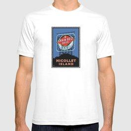 Landmark Series   MN Nicollet Island Grain Belt Bridge T-shirt
