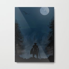 Skyrim | Warriors Landscapes Serries Metal Print