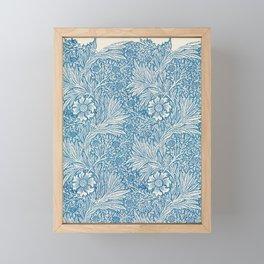 William Morris floral print Framed Mini Art Print