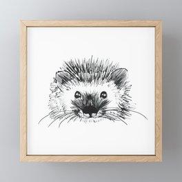 Hedgehog Framed Mini Art Print
