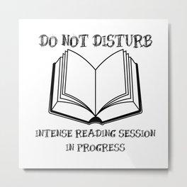 Do Not Disturb (Black on White) Metal Print