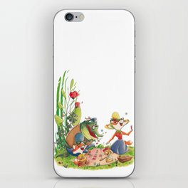 Animals in picnic iPhone Skin