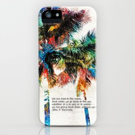 Colorful Palm Trees - Returning Home - By Sharon Cummings iPhone Case