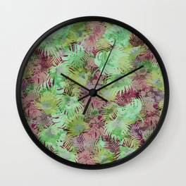 Seamless Pattern of Tropical Leaves II Wall Clock