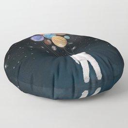 balloon universe Floor Pillow