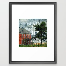 Way out and Abandoned Framed Art Print