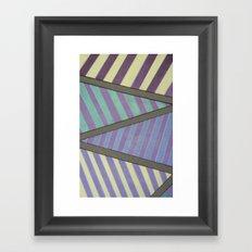 Zig Zag run Framed Art Print