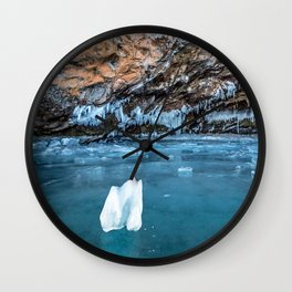 The Ice Grotto Wall Clock