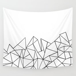 Ab Peaks White Wall Tapestry