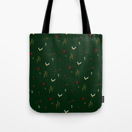 Quidditch Pattern - Slytherin Tote Bag
