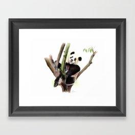 Panda Watercolour Painting Framed Art Print
