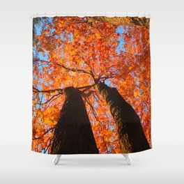 Flaming trees Shower Curtain