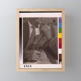 Doris Ulmann 1882-1934, Portrait of James Duff, fiddler, Hazard, Kentucky Framed Mini Art Print