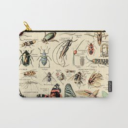 Vintage Insect Identification Chart // Arthropodes by Adolphe Millot XL 19th Century Science Artwork Carry-All Pouch