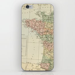 Old Map of the West of France iPhone Skin