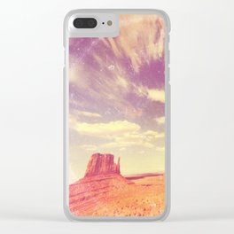 Navajo Country - America As Vintage Album Art Clear iPhone Case