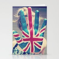 british flag Stationery Cards featuring british flag love by Starr Shaver