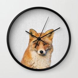 Fox - Colorful Wall Clock