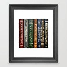 Books 2 Framed Art Print