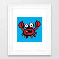 luigi Framed Art Prints featuring Crab Luigi by Leon-Design