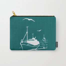 Comrades in Turquoise Carry-All Pouch