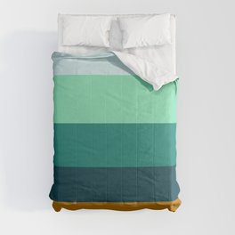 Teal Turquoise and Suede Geometric Pattern Comforters