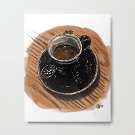 Espresso at Fiction Coffee Metal Print