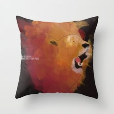 INDIANA - Heart On Fire Throw Pillow