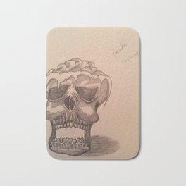 Elementary skull Bath Mat