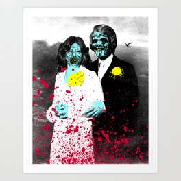 Spooky Prom 4 Art Print