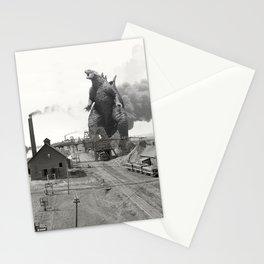 Godzilla King of Monsters Ironwood Michigan 1898 Stationery Cards