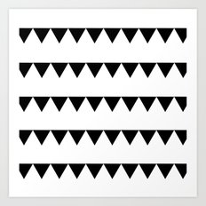 TRIANGLE BANNERS (Black) Art Print