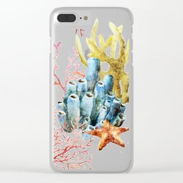 Sea Life Pattern 11 Clear iPhone Case