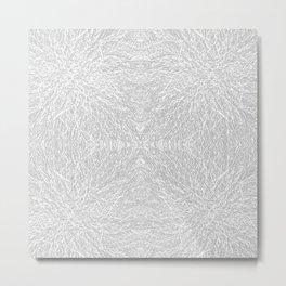 tangled white Metal Print