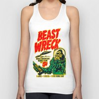 50s Tank Tops featuring BEASTWRECK ATTACKS! by BeastWreck
