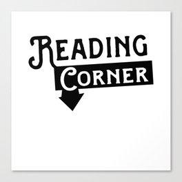 Reading Corner Sign Canvas Print