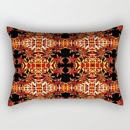 Traditional Christmas Star Pattern Rectangular Pillow