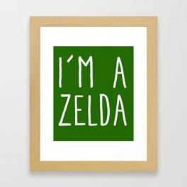 I'm A Zelda Framed Art Print
