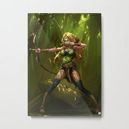 Wood Elf Archer Metal Print