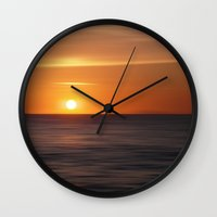 italian Wall Clocks featuring Italian sunset by Steffi Louis