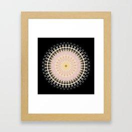 Blush Gold Black Mandala Framed Art Print