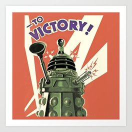 Daleks To Victory - Doctor Who Art Print