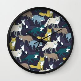 Think Outside the Fox Wall Clock